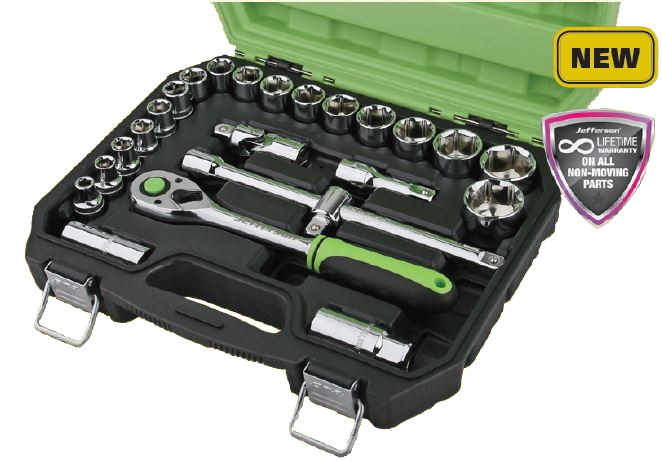 Jefferson 24 Piece 1/2 Socket Set