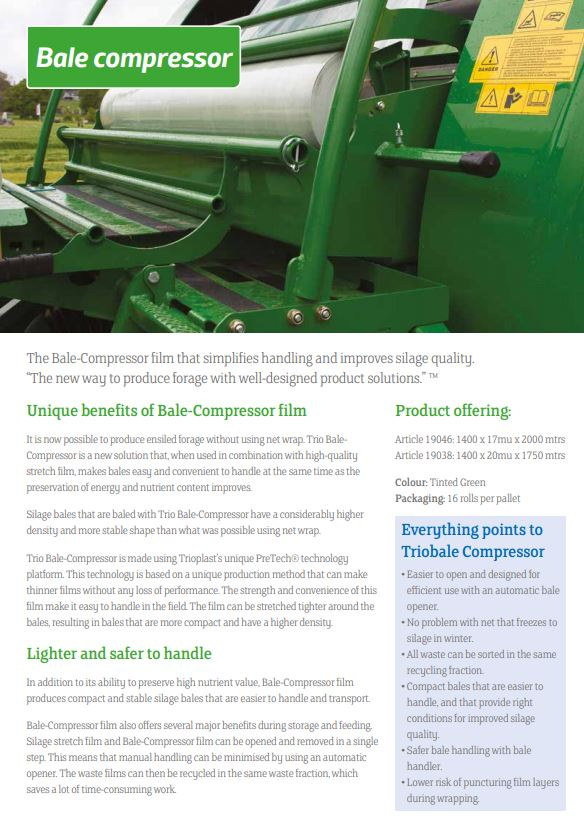 TrioBale Compressor Roll | Buy Online Now at The Dandy's