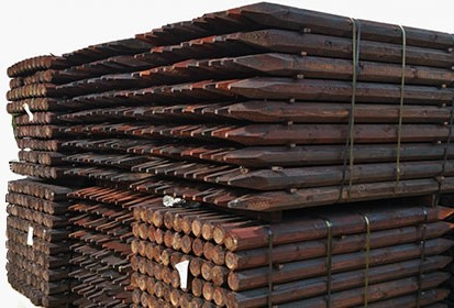 Octo Creosote Posts 5ft x 3 / 80x1500mm
