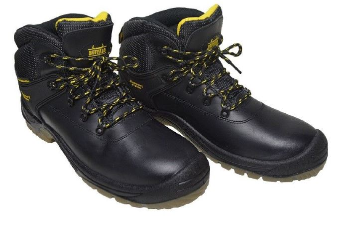 Buffalo Laced Safety Boot - Black