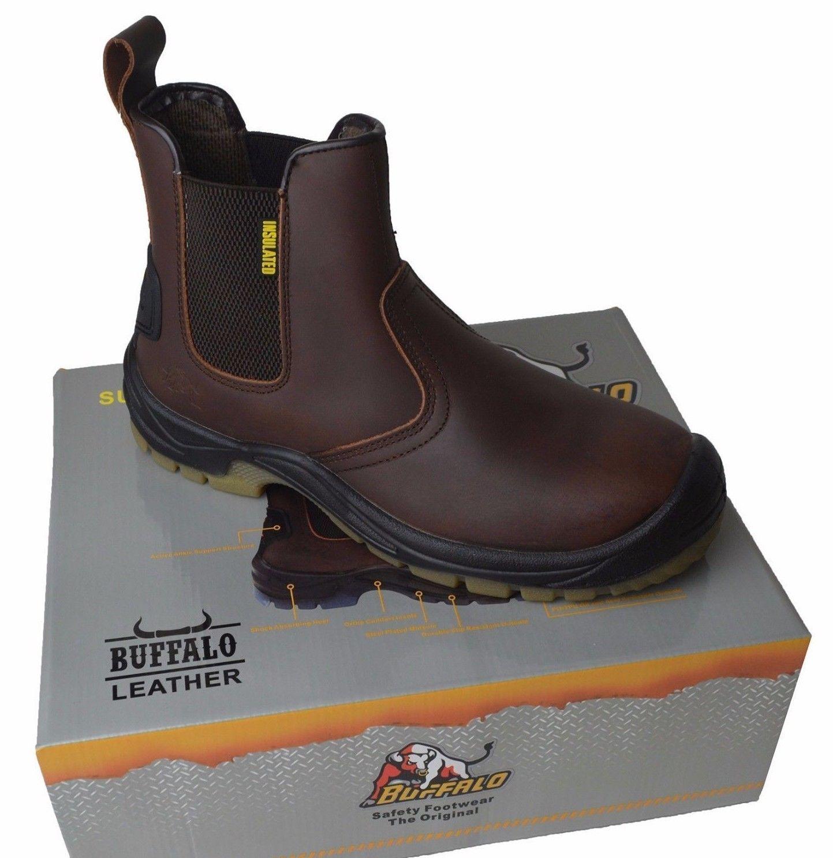 buffalo leather work boots