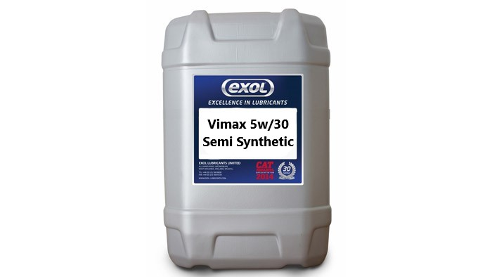 Exol Vimax 5w/30 Semi Synthetic - (20 Litres)