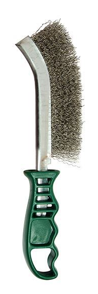 Jefferson -  Plastic Handle Stainless Steel Wire Brush (Green) - JEFBRPSS04