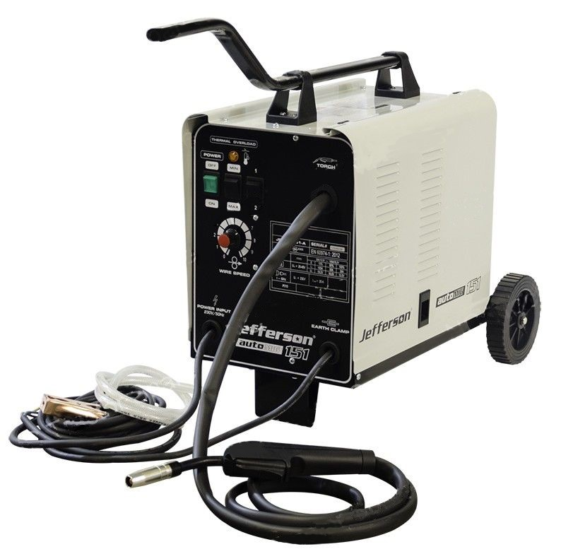Jefferson 151 Amp Gas/No Gas MIG Welder 230V - JEFMIG151-A