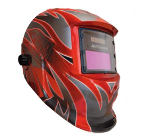 Jefferson Automatic Welding & Grinding Helmet - Red