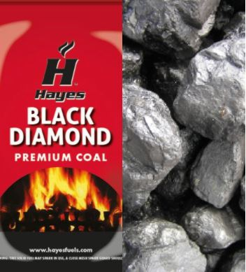 Hayes Premium Black Diamond Polish Coal 1 Tonne