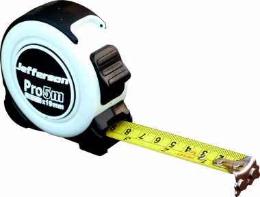 Jefferson Professional Nylon Coated Measuring Tape - 5m